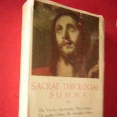 Libros de segunda mano: SACRAE THEOLOGIAE SUMMA. TOMO III. BAC, 1953. 902 PP.. Lote 41834063