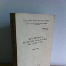 Livros em segunda mão: LECTIONES PATRUM ET LECTIONES HAGIOGRAPHICAE PRO OFFICIO DIVINO. LATÍN. TYPIS POLYGLOTTIS VATICANIS.. Lote 190160773