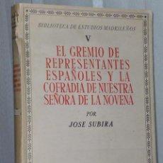 Libros de segunda mano: EL GREMIO DE REPRESENTANTES ESPAÑOLES Y LA COFRADIA DE NUESTRA SEÑORA DE LA NOVENA. Lote 43461912