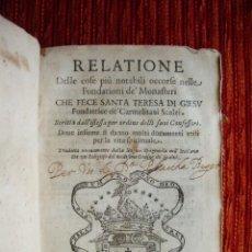 Libros de segunda mano: 1622-FUNDACIÓN MONASTERIOS SANTA TERESA.ÁVILA MEDINA MALAGÓN PASTRANA SEGOVIA BEAS ALBA CARAVACA. Lote 43807687