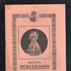 Libros de segunda mano: BOLETIN MERCEDARIO. VIRGEN SANTISIMA DE LA MERCED. CADIZ. 12 PAGINAS. 1939.. Lote 44384943