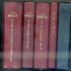 Libros de segunda mano: LA BÍBLIA - VERSIÓ DELS MONJOS DE MONTSERRAT (ANDORRA, 1960/69) 5 TOMOS. Lote 44387857