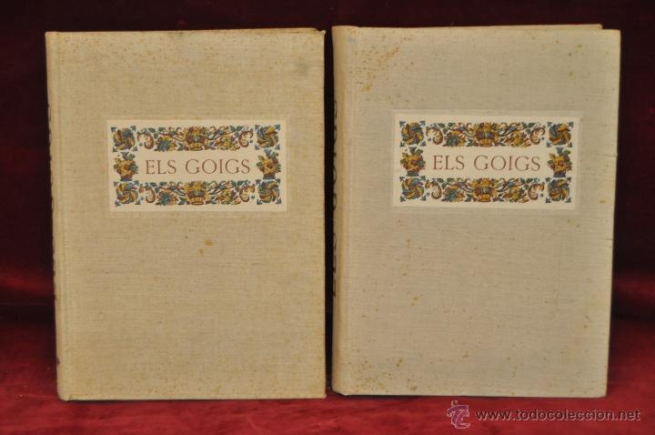 ELS GOIGS PER JOAN AMADES. 1939. ED.ORBIS. 2 VOLUMENES (COMPLETA) TIRAJE LIMITADO DE 500 EJEMPLARES. (Libros de Segunda Mano - Religión)