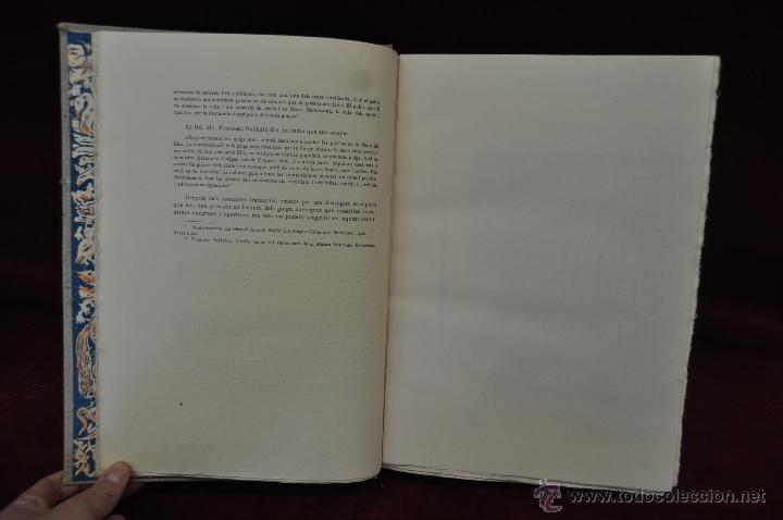 Libros de segunda mano: ELS GOIGS PER JOAN AMADES. 1939. ED.ORBIS. 2 VOLUMENES (COMPLETA) TIRAJE LIMITADO DE 500 EJEMPLARES. - Foto 7 - 44464385