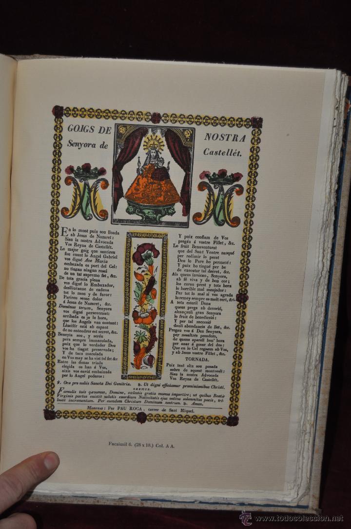 Libros de segunda mano: ELS GOIGS PER JOAN AMADES. 1939. ED.ORBIS. 2 VOLUMENES (COMPLETA) TIRAJE LIMITADO DE 500 EJEMPLARES. - Foto 20 - 44464385