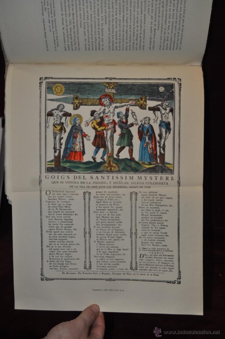 Libros de segunda mano: ELS GOIGS PER JOAN AMADES. 1939. ED.ORBIS. 2 VOLUMENES (COMPLETA) TIRAJE LIMITADO DE 500 EJEMPLARES. - Foto 23 - 44464385