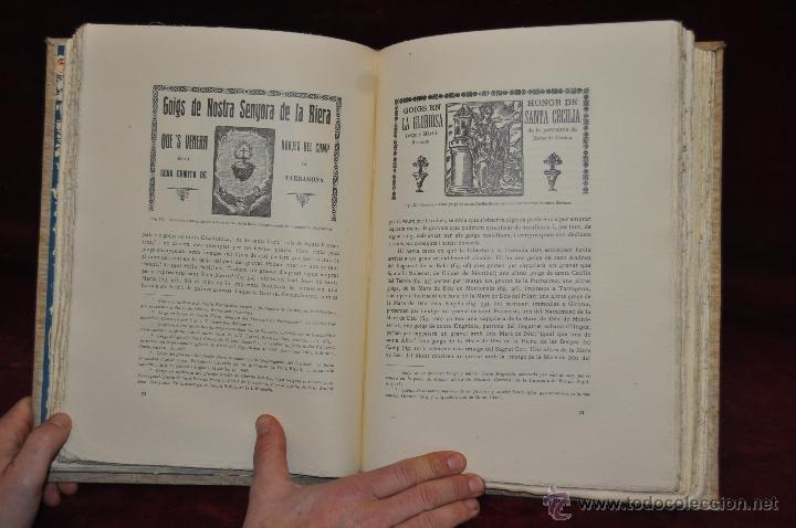 Libros de segunda mano: ELS GOIGS PER JOAN AMADES. 1939. ED.ORBIS. 2 VOLUMENES (COMPLETA) TIRAJE LIMITADO DE 500 EJEMPLARES. - Foto 24 - 44464385