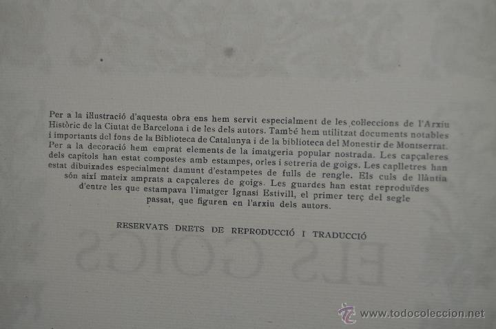 Libros de segunda mano: ELS GOIGS PER JOAN AMADES. 1939. ED.ORBIS. 2 VOLUMENES (COMPLETA) TIRAJE LIMITADO DE 500 EJEMPLARES. - Foto 27 - 44464385