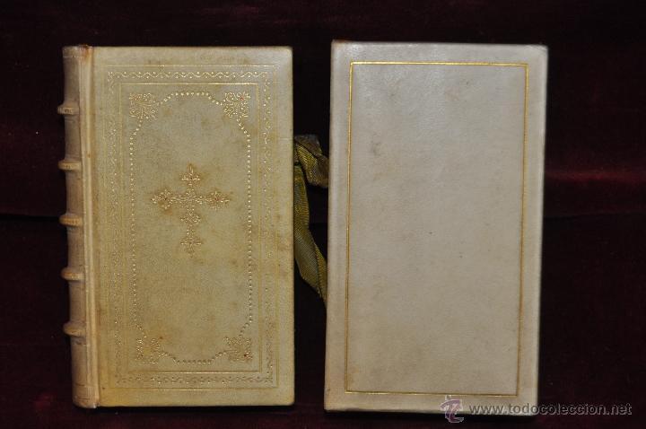 LUJOSO DEVOCIONARIO DEL AÑO 1950. ED. REGINA. TAPAS PERGAMINO (Libros de Segunda Mano - Religión)