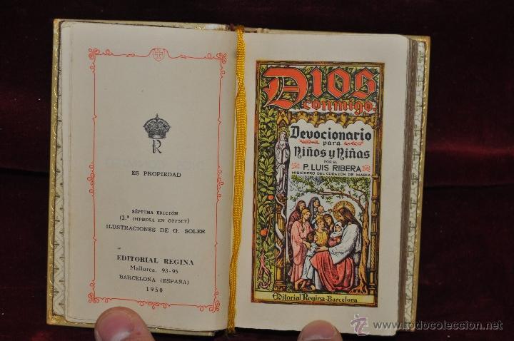 Libros de segunda mano: LUJOSO DEVOCIONARIO DEL AÑO 1950. ED. REGINA. TAPAS PERGAMINO - Foto 5 - 44464973