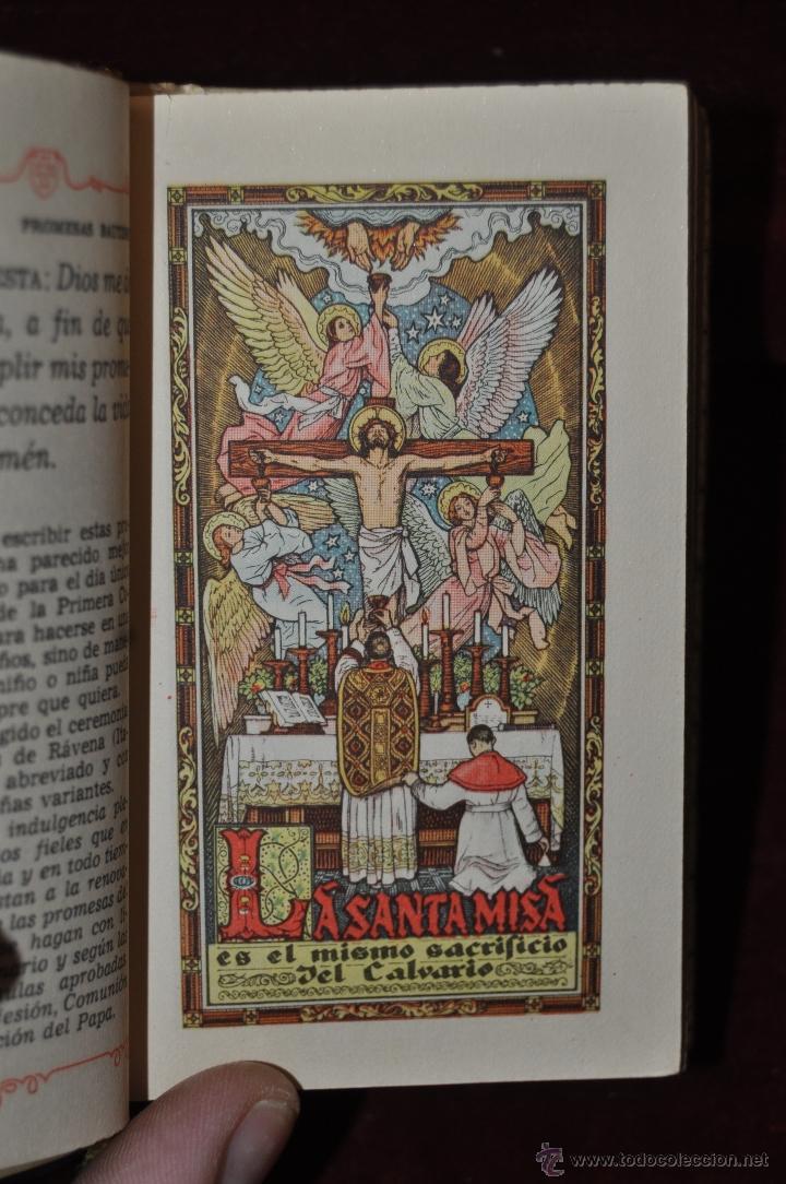 Libros de segunda mano: LUJOSO DEVOCIONARIO DEL AÑO 1950. ED. REGINA. TAPAS PERGAMINO - Foto 9 - 44464973