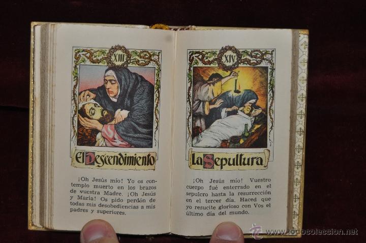 Libros de segunda mano: LUJOSO DEVOCIONARIO DEL AÑO 1950. ED. REGINA. TAPAS PERGAMINO - Foto 10 - 44464973