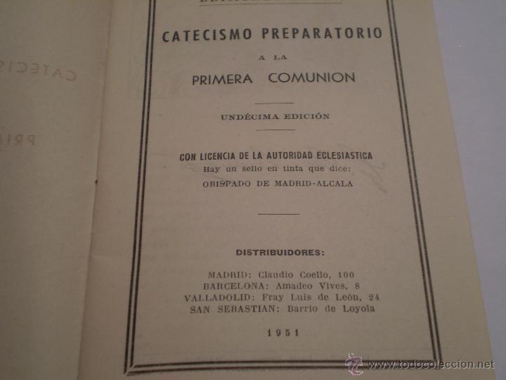 Libros de segunda mano: CATECISMO PREPARATORIO A LA PRIMERA COMUNION.EDICIONES BRUÑO.1951 - Foto 2 - 44914051