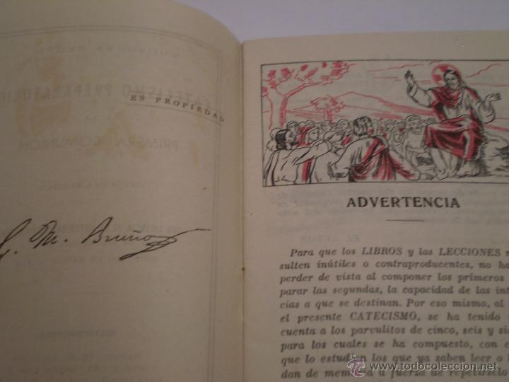 Libros de segunda mano: CATECISMO PREPARATORIO A LA PRIMERA COMUNION.EDICIONES BRUÑO.1951 - Foto 3 - 44914051
