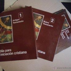 Libros de segunda mano: BIBLIA PARA LA INICIACION CRISTIANA - 3 TOMOS - EDITADO POR SECRETARIADO NACIONAL DE CATEQUESIS 1977. Lote 46307807