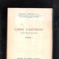 Libros de segunda mano: CASOS CANONICOS. TOMO I. EDUARDO REGATILLO. EDITORIAL SAL TERRAE. 1957. Lote 45166119