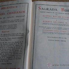 Libros de segunda mano: SAGRADA BIBLIA. BIBLIOTECA DE AUTORES CRISTIANOS. ELOÍNO NÁCAR FUSTER. ALBERTO COLUNGA.. Lote 45486294