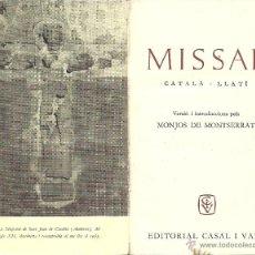 Libros de segunda mano: MISSAL CATALA - LLATI - 1964. Lote 45672354