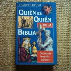Libros de segunda mano: QUIÉN ES QUIÉN EN LA BÍBLIA DICCIONARIO BIOGRÁFICO ILUSTRADO. 1996.. Lote 46027323