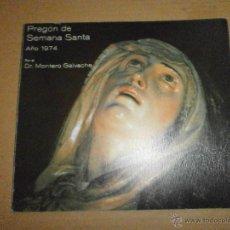 Libros de segunda mano: SEMANA SANTA VALLADOLID PREGON 1974. Lote 46973965