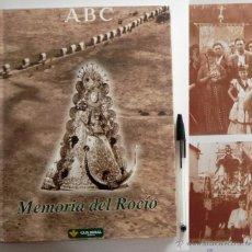 Libros de segunda mano: MEMORIA DEL ROCÍO - LIBRO FOTOGRAFÍA ANTIGUA - ROMERÍA VIRGEN RELIGIÓN ROMEROS - FOTOS HISTORIA ABC. Lote 50329020