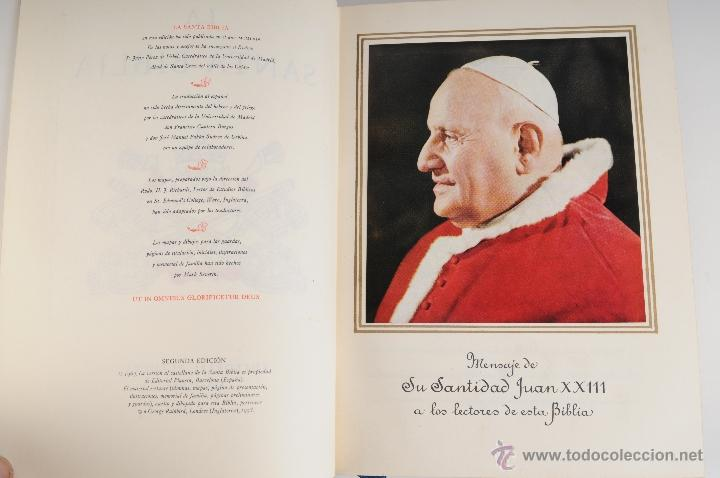 Libros de segunda mano: LA SANTA BIBLIA EDITORIAL PLANETA 2ª EDICION AÑO 1964 - Foto 3 - 194973868