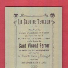Libros de segunda mano: LIBRO RELIGIOSO-FACCIMIL-1989-LA CREU DE TEULADA-MILACRE FESTA S.VICENT FERRER-IM.J.M.ALPUENTE-LS340. Lote 47426003