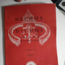 Libros de segunda mano: REVISTA HECHOS Y DICHOS - JUNIO 1936 - Nº 35 - MIRA OTROS EN MI TIENDA. Lote 48306803