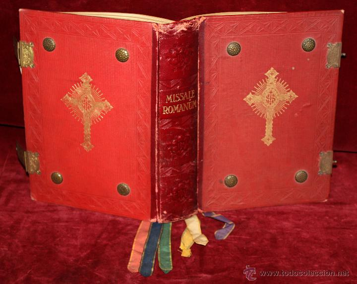 INTERESANTE MISSALE ROMANUM DEL AÑO 1940. GRAN FORMATO. INTERIOR CON LITOGRAFÍAS... (Libros de Segunda Mano - Religión)