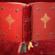 Libros de segunda mano: INTERESANTE MISSALE ROMANUM DEL AÑO 1940. GRAN FORMATO. INTERIOR CON LITOGRAFÍAS.... Lote 49285154