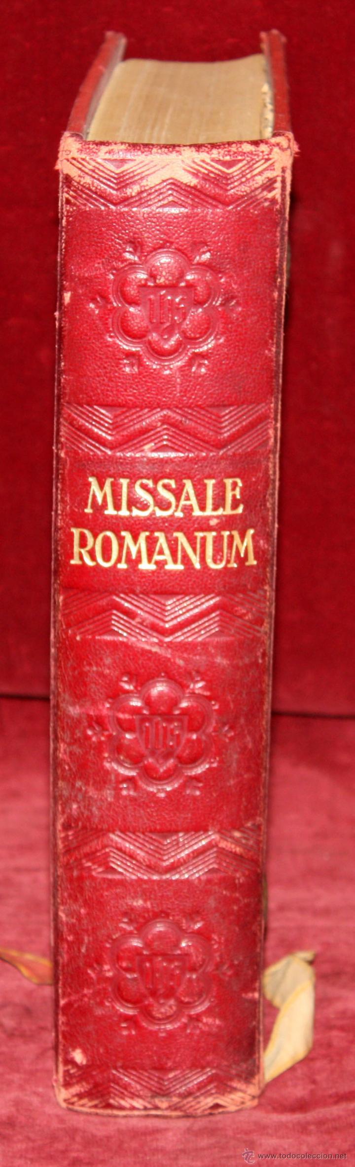 Libros de segunda mano: INTERESANTE MISSALE ROMANUM DEL AÑO 1940. GRAN FORMATO. INTERIOR CON LITOGRAFÍAS... - Foto 2 - 49285154