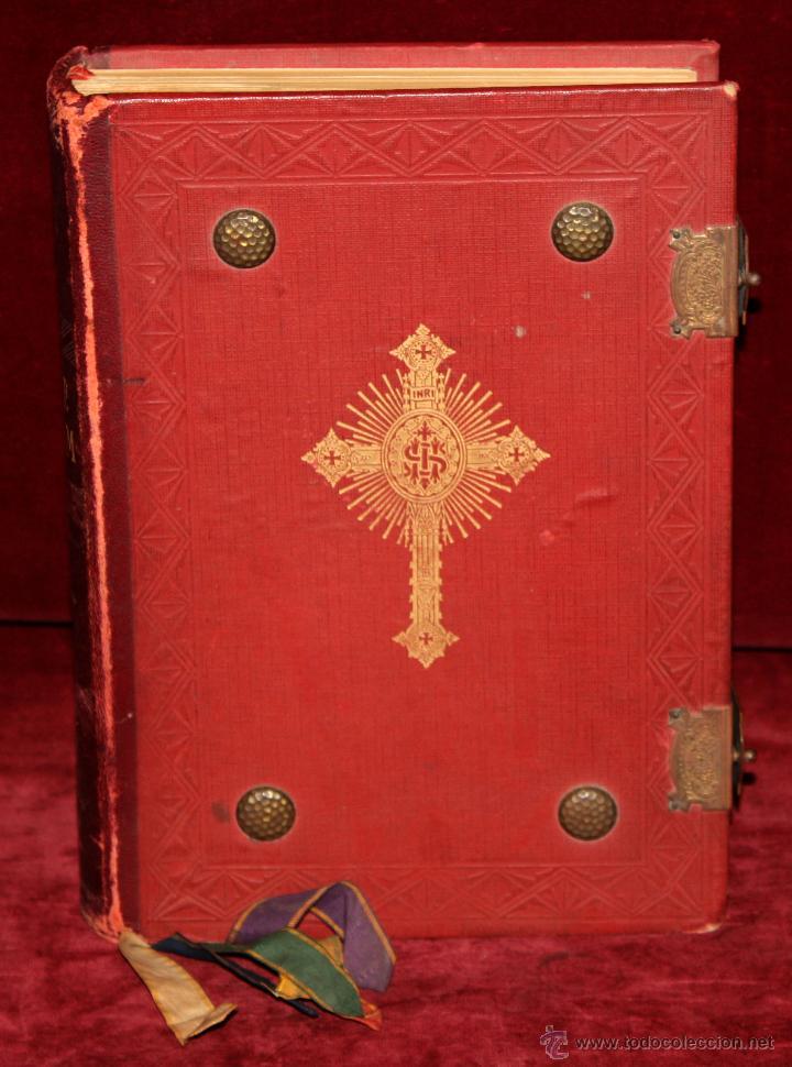 Libros de segunda mano: INTERESANTE MISSALE ROMANUM DEL AÑO 1940. GRAN FORMATO. INTERIOR CON LITOGRAFÍAS... - Foto 3 - 49285154