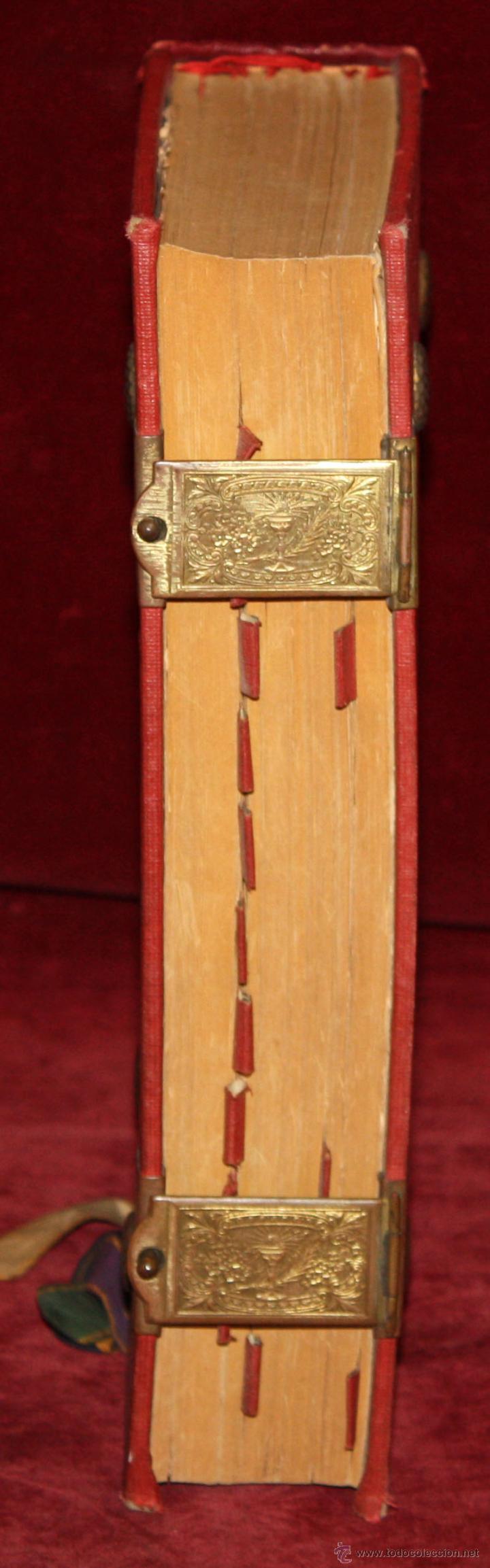Libros de segunda mano: INTERESANTE MISSALE ROMANUM DEL AÑO 1940. GRAN FORMATO. INTERIOR CON LITOGRAFÍAS... - Foto 4 - 49285154