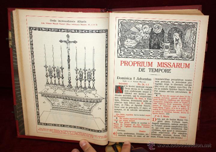 Libros de segunda mano: INTERESANTE MISSALE ROMANUM DEL AÑO 1940. GRAN FORMATO. INTERIOR CON LITOGRAFÍAS... - Foto 6 - 49285154