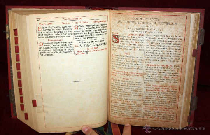 Libros de segunda mano: INTERESANTE MISSALE ROMANUM DEL AÑO 1940. GRAN FORMATO. INTERIOR CON LITOGRAFÍAS... - Foto 9 - 49285154