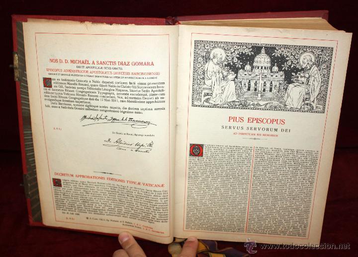Libros de segunda mano: INTERESANTE MISSALE ROMANUM DEL AÑO 1940. GRAN FORMATO. INTERIOR CON LITOGRAFÍAS... - Foto 11 - 49285154