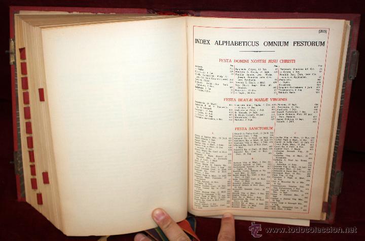 Libros de segunda mano: INTERESANTE MISSALE ROMANUM DEL AÑO 1940. GRAN FORMATO. INTERIOR CON LITOGRAFÍAS... - Foto 13 - 49285154