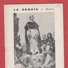 Libros de segunda mano: LA SEQUIA-MIRACLE-ALTAR DEL CARME-1966-JOSEP PERIS CELDA-26 PAG-IMPRENTA LLEONART-LR1092. Lote 49779136