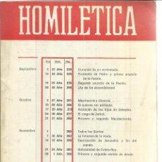 Libros de segunda mano: HOMILETICA. EDITORIAL SAL TERRAE. SANTANDER. SEPTIEMBRE-DICIEMBRE 1976. Lote 50132179