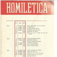 Libros de segunda mano: HOMILETICA. EDITORIAL SAL TERRAE. SANTANDER. MAYO-AGOSTO. 1976 . Lote 50132228