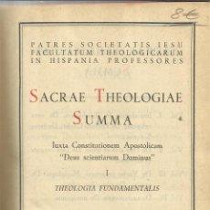 Libros de segunda mano: SACRAE THEOLOGIAE SUMMA. EDITORIAL CATÓLICA S.A. MADRID. 1955. Lote 50229827