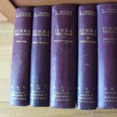 Libros de segunda mano: SUMMA THEOLOGIAE, S.THOMAS AQUINATIS, 5 TOMOS, SUMA TEOLOGIA, TOMAS AQUINO, BAC EN LATIN. Lote 50698129
