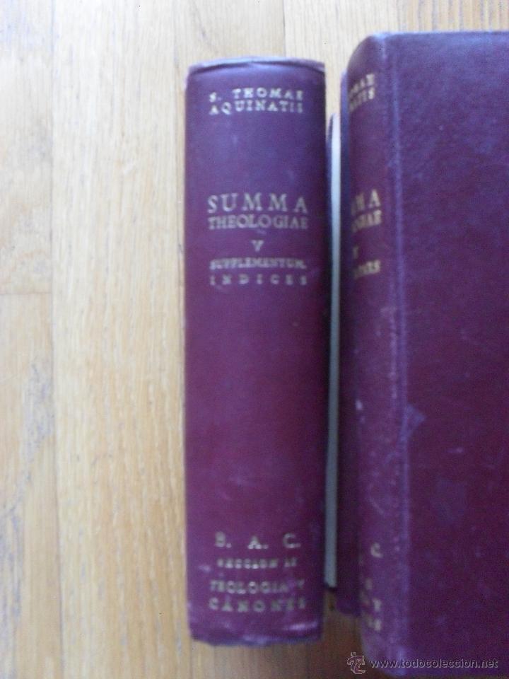 Libros de segunda mano: SUMMA THEOLOGIAE, S.Thomas Aquinatis, 5 Tomos, Suma Teologia, Tomas Aquino, BAC EN LATIN - Foto 4 - 50698129