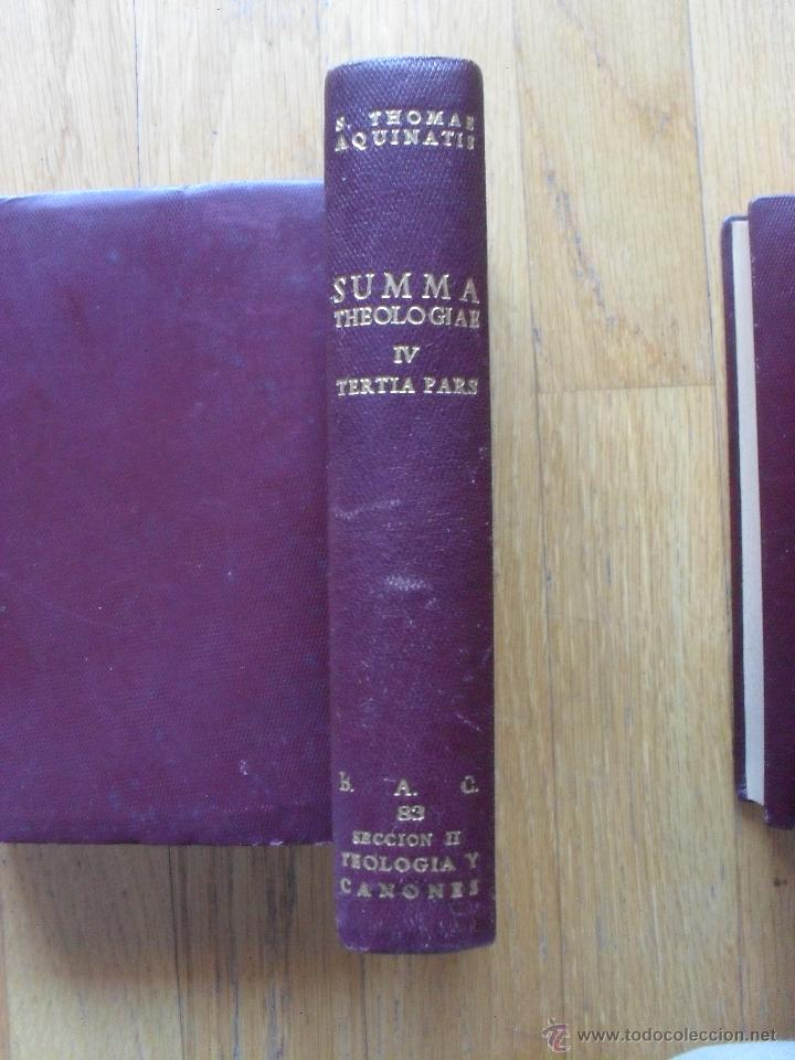 Libros de segunda mano: SUMMA THEOLOGIAE, S.Thomas Aquinatis, 5 Tomos, Suma Teologia, Tomas Aquino, BAC EN LATIN - Foto 6 - 50698129