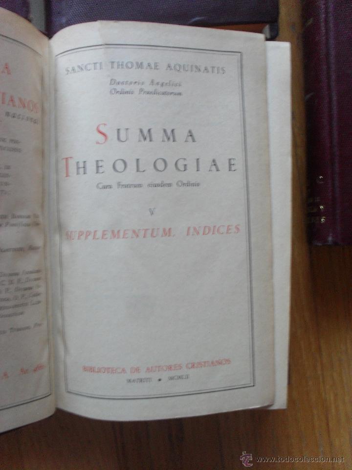 Libros de segunda mano: SUMMA THEOLOGIAE, S.Thomas Aquinatis, 5 Tomos, Suma Teologia, Tomas Aquino, BAC EN LATIN - Foto 10 - 50698129