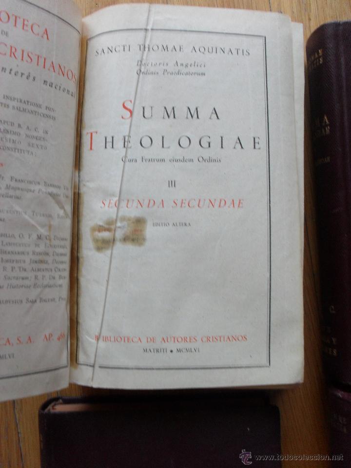 Libros de segunda mano: SUMMA THEOLOGIAE, S.Thomas Aquinatis, 5 Tomos, Suma Teologia, Tomas Aquino, BAC EN LATIN - Foto 11 - 50698129