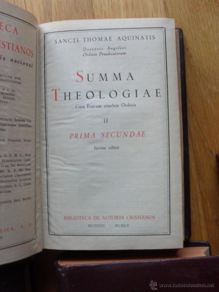 Libros de segunda mano: SUMMA THEOLOGIAE, S.Thomas Aquinatis, 5 Tomos, Suma Teologia, Tomas Aquino, BAC EN LATIN - Foto 12 - 50698129