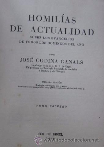 Libros de segunda mano: HOMILIAS DE ACTUALIDAD - 2 TOMOS - Foto 3 - 51023057