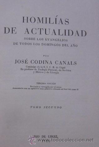 Libros de segunda mano: HOMILIAS DE ACTUALIDAD - 2 TOMOS - Foto 6 - 51023057