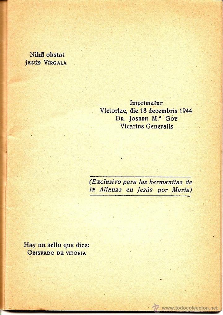 Libros de segunda mano: MI BOLETÍN DE ACTOS POR EL VICEDIRECTOR GENERAL DE LA OBRA - EDICIONES J.M. - VITORIA AÑO 1944 - Foto 2 - 51032805
